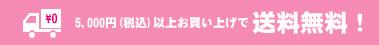5,000円(税込)以上お買い上げで送料無料!